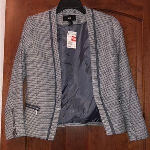 H&M Gray Zip Blazer
